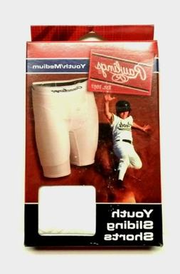 Rawlings Youth Sliding Shorts, White, M