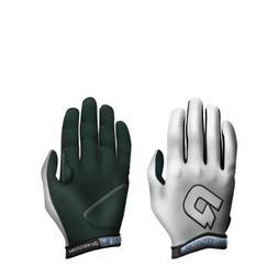 DeMarini Youth Super Light Batting Glove, White, Small