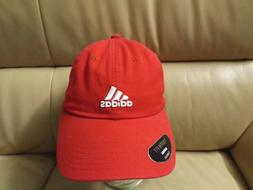 Adidas Youth Ultimate Cap Adjustable Climalite Scarlet/White